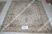 stock wool and silk tabriz persian rugs No.43 factory manufacturer