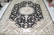 stock wool and silk tabriz persian rugs No.46 factory manufacturer