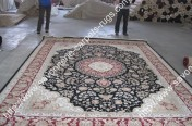 stock wool and silk tabriz persian rugs No.55 factory manufacturer