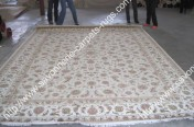 stock wool and silk tabriz persian rugs No.57 factory manufacturer