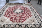 stock wool and silk tabriz persian rugs No.58 factory manufacturer