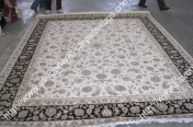 stock wool and silk tabriz persian rugs No.65 factory manufacturer