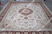stock wool and silk tabriz persian rugs No.70 factory manufacturer