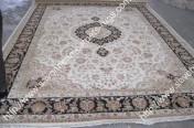 stock wool and silk tabriz persian rugs No.73 factory manufacturer