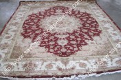 stock wool and silk tabriz persian rugs No.75 factory manufacturer