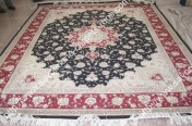 stock wool and silk tabriz persian rugs No.81 factory manufacturer