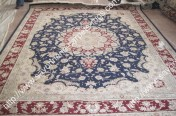 stock wool and silk tabriz persian rugs No.83 factory manufacturer